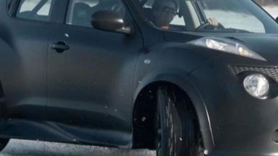 Nissan Juke-R on Norwegian ice track [video]