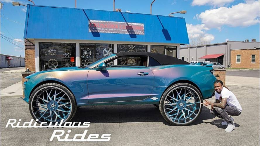 Chevy Camaro On 32-Inch Wheels Will Not Leave You Indifferent