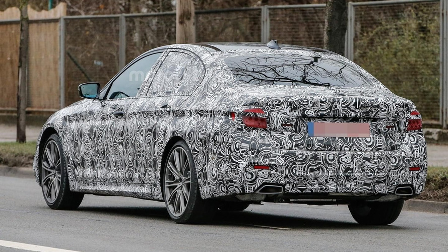 Latest BMW 5 Series spy photos show unusual exhaust tips