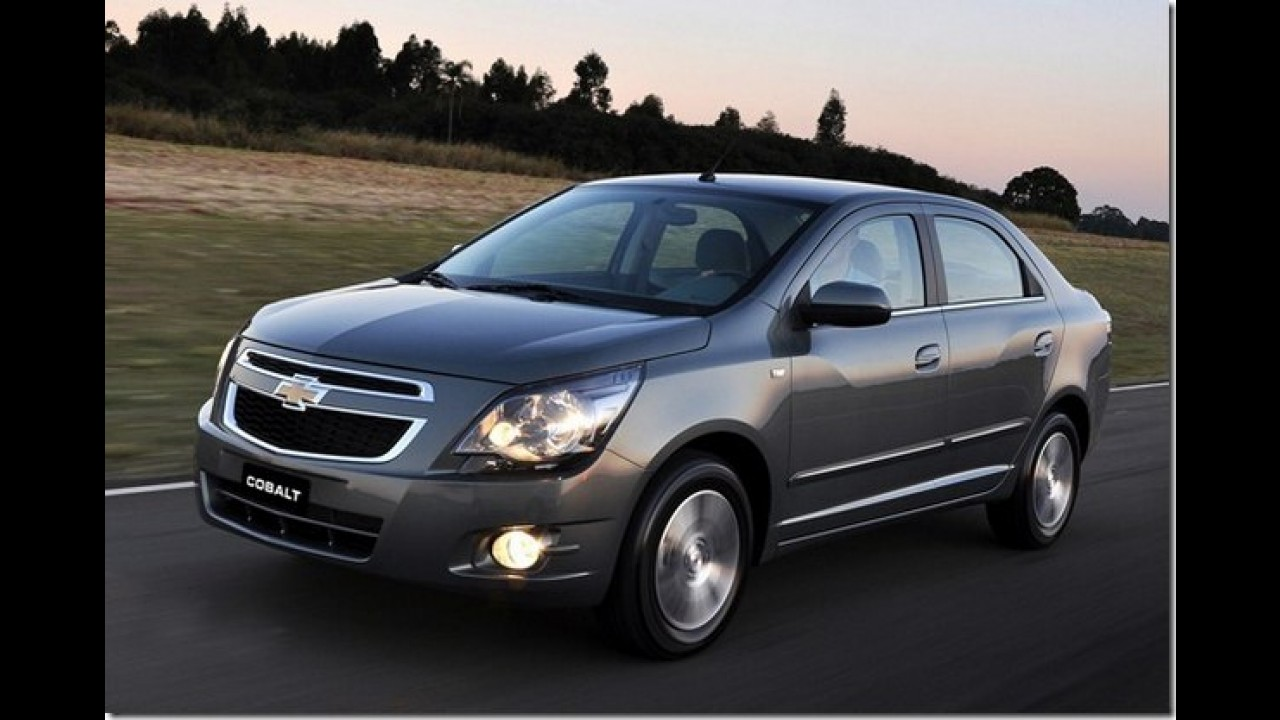 Chevrolet convoca 16 mil unidades de Classic, Cobalt, Montana e Spin para recall