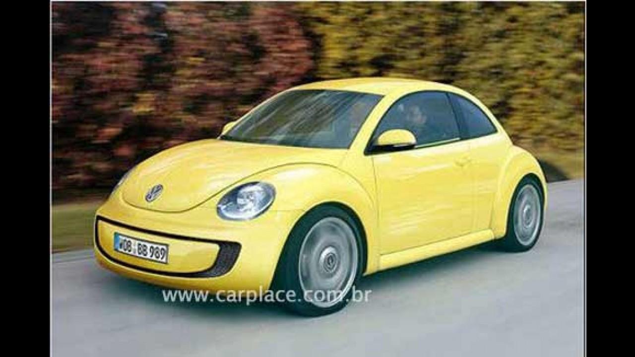 Novo New Beetle da Volkswagen deve chegar em 2012 e trazer nova familia