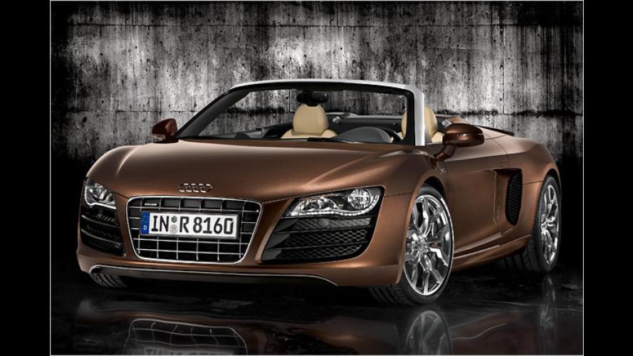 Jetzt auch offen: Weltpremiere für den Audi R8 Spyder