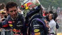 Sebastian Vettel with Mark Webber 24.11.2013 Brazilian Grand Prix