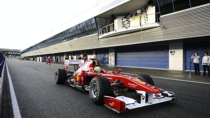 Fisichella drives new Ferrari at Jerez