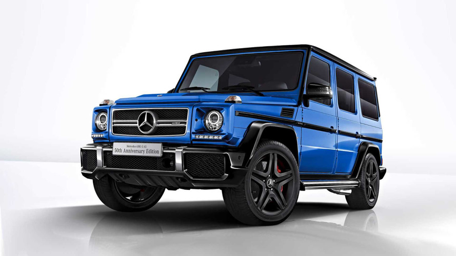 Mercedes G63 50th Anniversary Gets Black And Blue In Japan