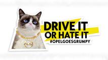 Opel Grumpy Cat and Georgia May Jagger calendar