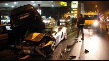 Perda Total - Polícia italiana acaba com a viatura Lamborghini Gallardo