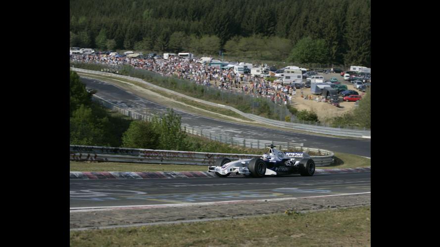 Al Nurburgring con una BMW-Sauber di F1