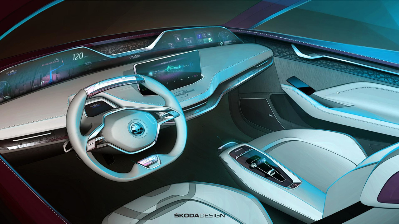 Skoda Vision E concept updated