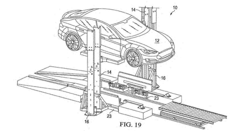 New Tesla Patent Shows A Trailer-based Battery Swap Station