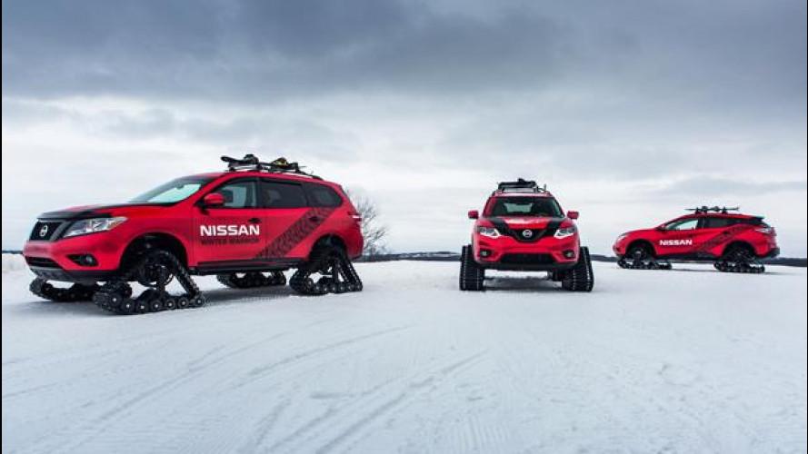 """Nissan, tris di auto """"cingolate"""" per il Salone di Chicago [VIDEO]"""