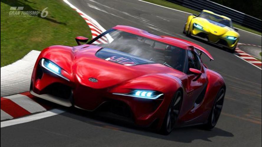Toyota FT-1 concept va già forte in Gran Turismo 6 [VIDEO]