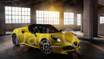 Alfa Romeo 4C Spider leaked image