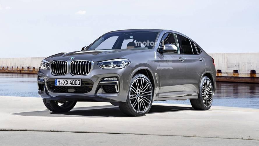 BMW X4 tasarım yorumu resmi tanıtım gibi