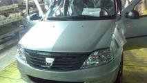 Facelifted Dacia Logan spy photo