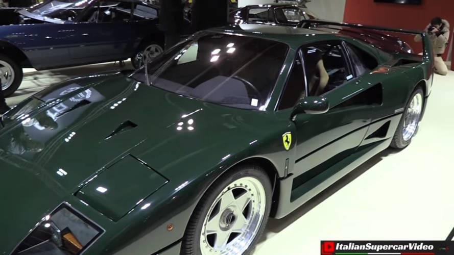 Ferrari F40 pintado de verde