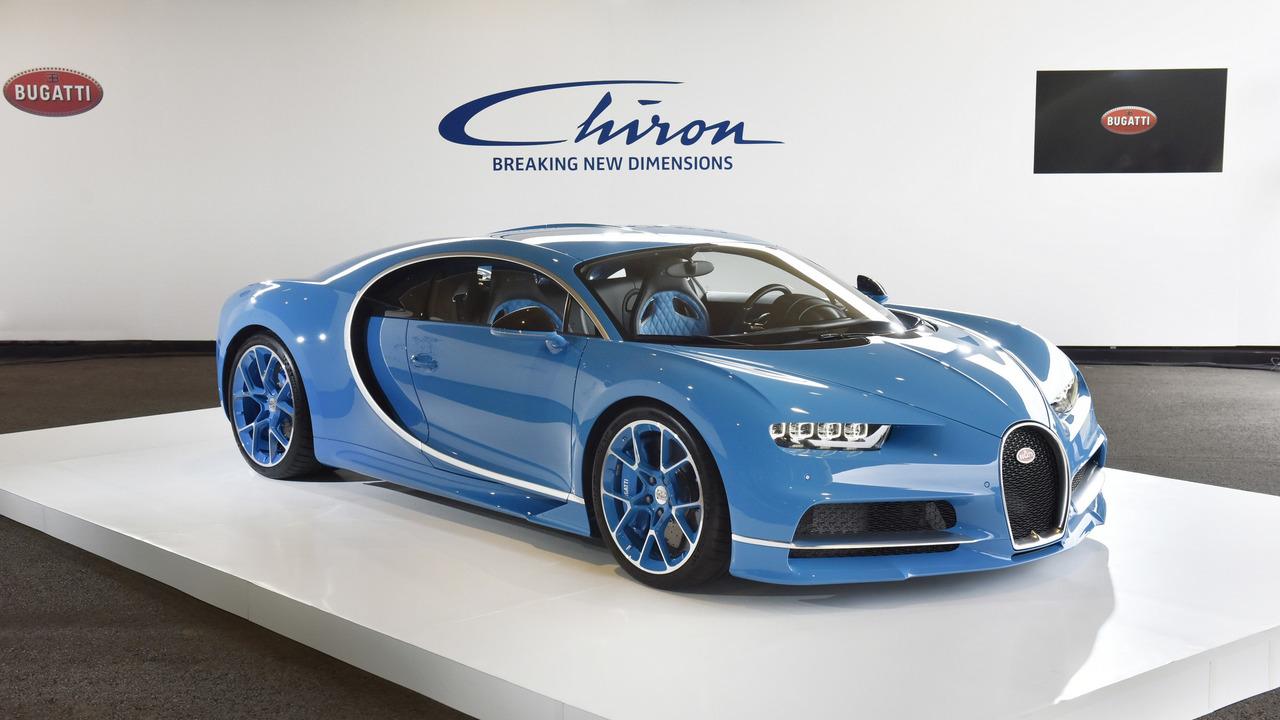 Bugatti Chiron debuts in China