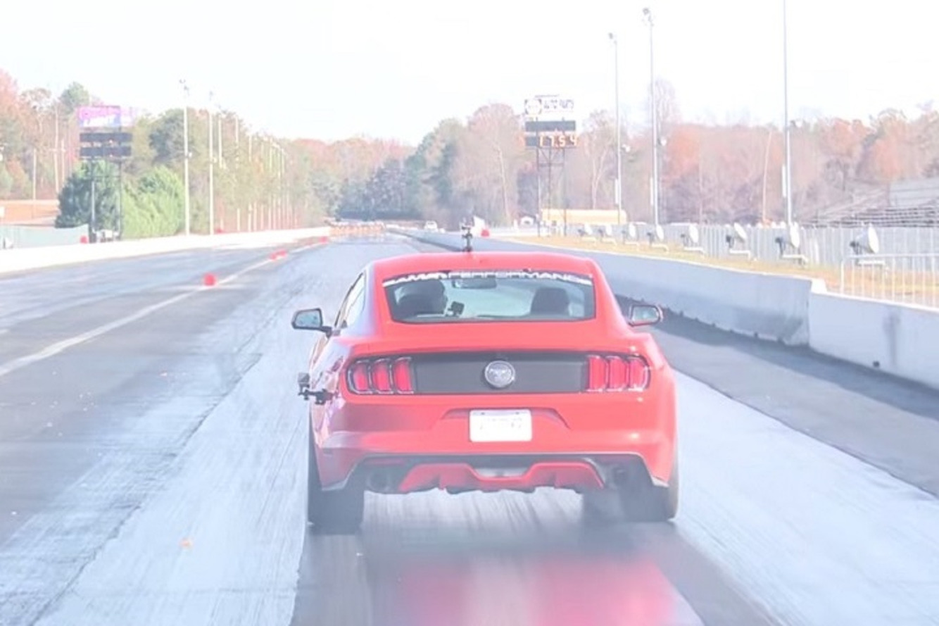 Watch a Tuned 2015 Ford Mustang EcoBoost Clock a 12.98 Quarter Mile
