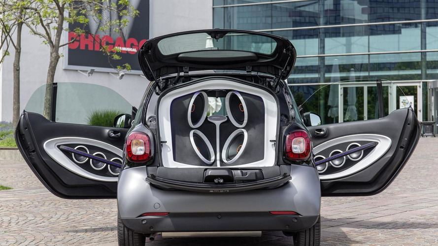 Smart and JBL squeeze 16 speakers, 2 subwoofers and 5 amplifiers inside ForTwo