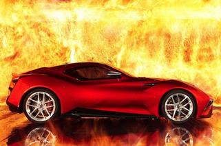 Icona Vulcano Supercar Blazes in Shanghai