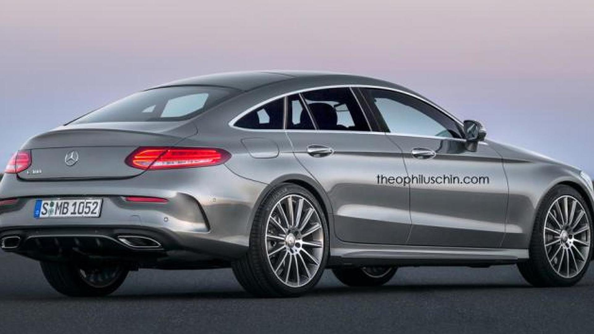 Mercedes benz clc four door coupe rendered based on c class coupe - Mercedes clc coupe for sale ...