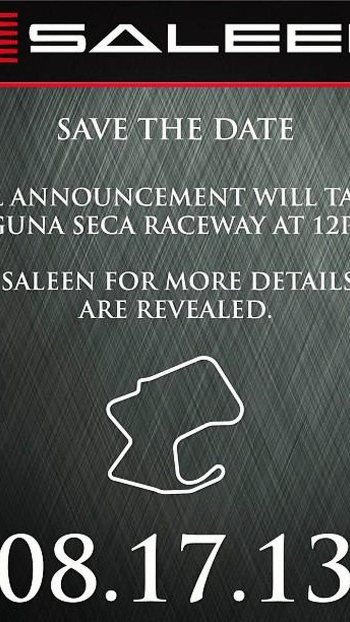 Saleen new model teaser photo 15.08.2013