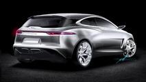 Speculative rendering of Jaguar front-wheel drive compact model 12.08.2013