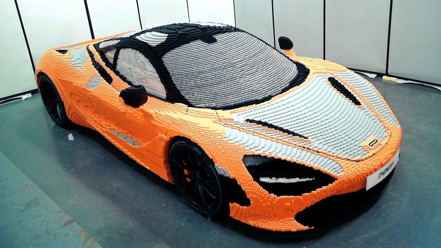 Watch McLaren Build The Life Size Lego 720S In A Single Minute