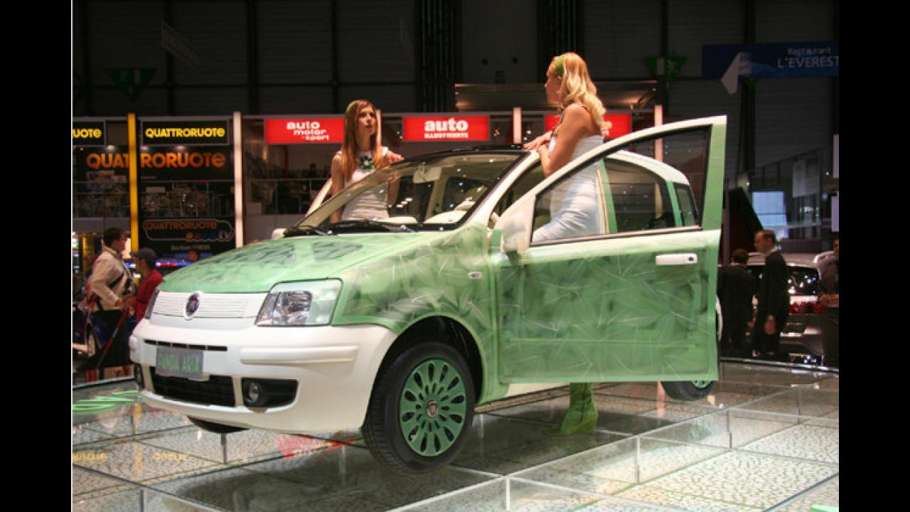 Spritsparstudie aus Turin: Der Fiat Panda steht als Öko-Prototyp namens