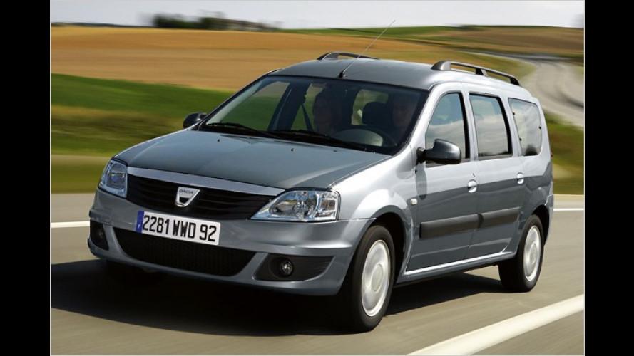 Neue Optik für Dacia MCV und neues Umweltsiegel eco2