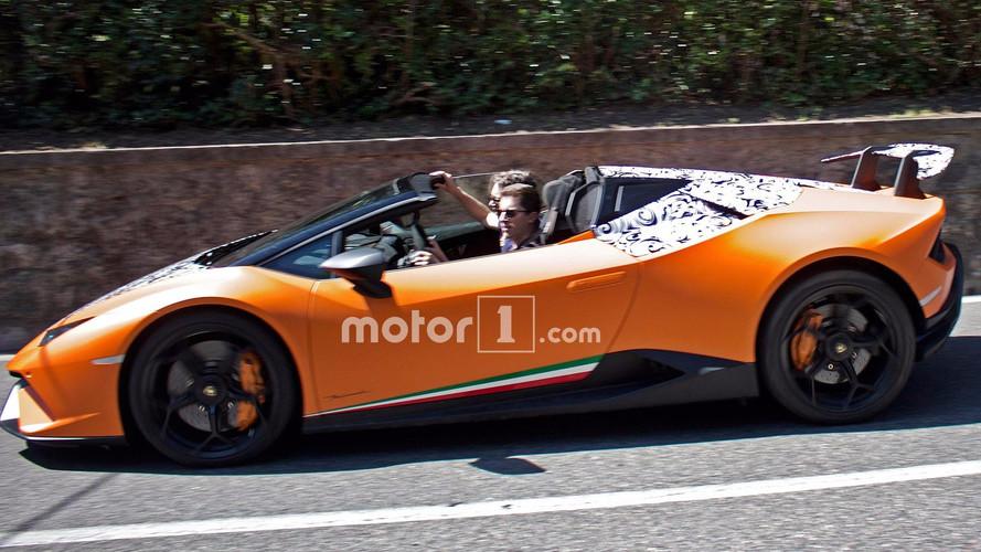 Lamborghini Huracan Performante Spyder Spied Stripping Off Camo