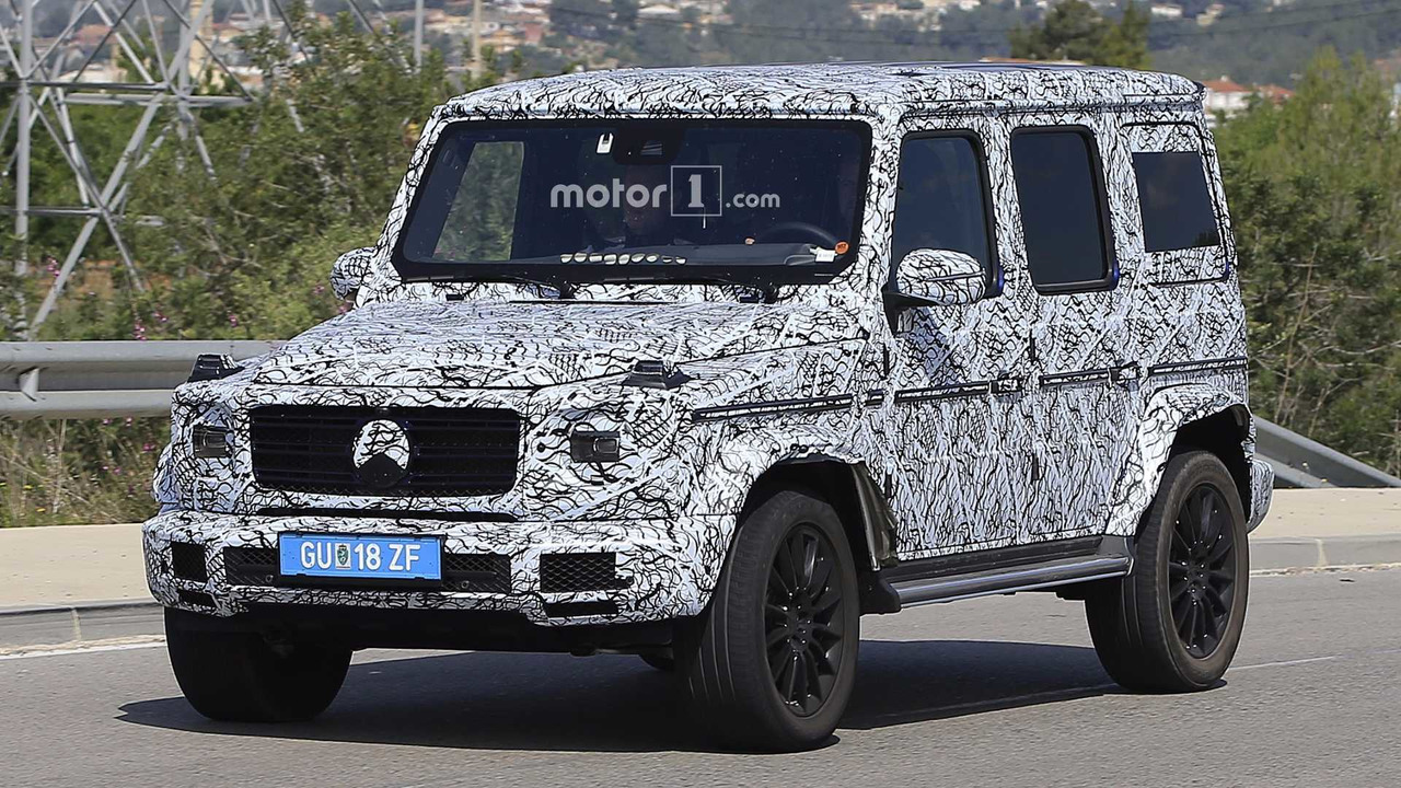 2018 mercedes g class spied looking a lot like its 1979 ancestor. Black Bedroom Furniture Sets. Home Design Ideas