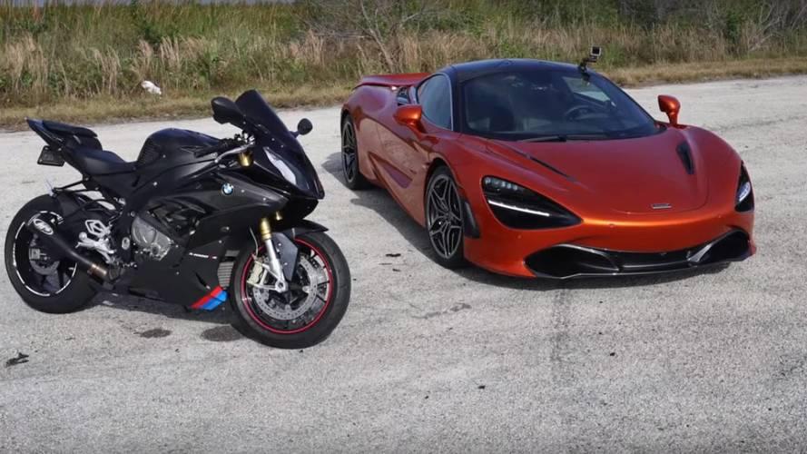 BMW S1000RR'ın McLaren 720S ile yarışını izleyin