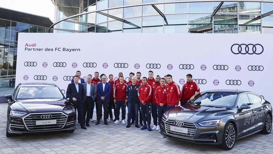 Bayern Münih oyuncuları yeni Audi'lerine kavuştu