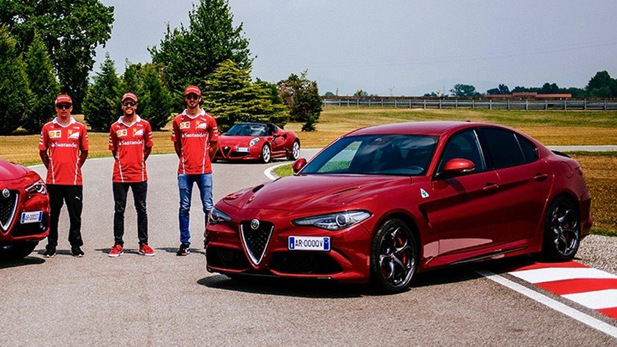Alfa Romeo Quadrifoglio Abused By Ferrari F1 Drivers