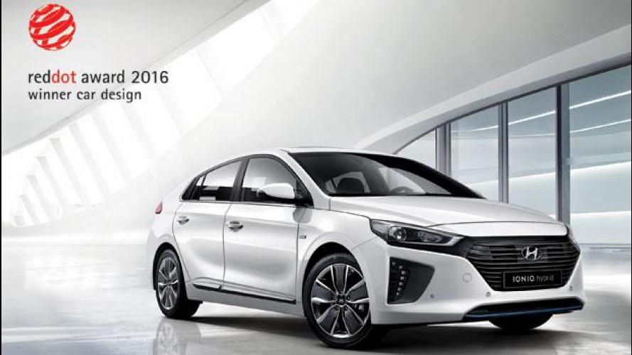 Hyundai Ioniq, estetica premiata con il Red Dot Design Awards