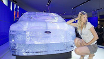 Ford Focus Ice Sculpture and Jodie Kidd