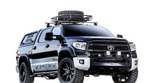 Toyota and chef Tim Love prepare Tundra mobile barbecue for SEMA