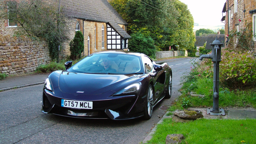 Touring the Midlands in McLaren's grand British supercar