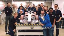 Manor takımı ve rüzgâr tüneli araç maketi