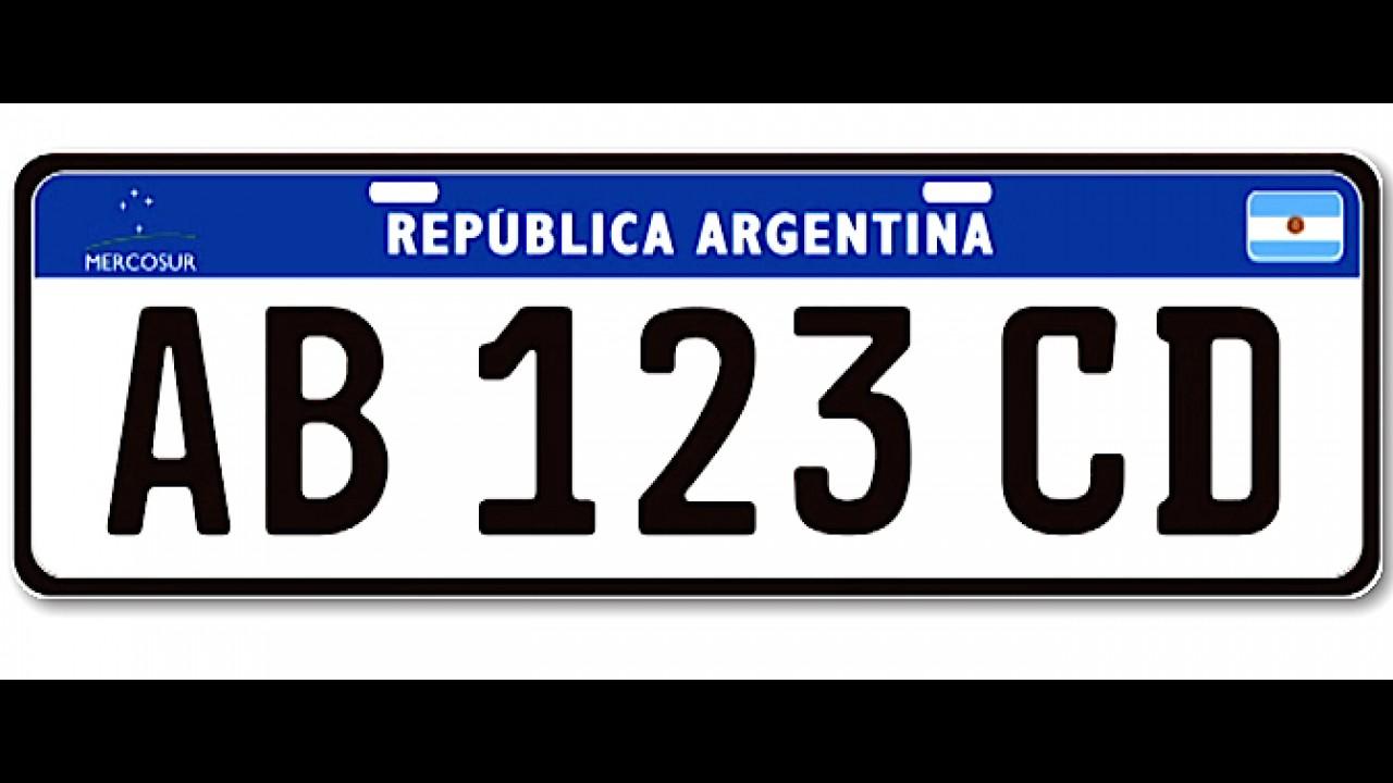Mercosul aprova modelo único de placa que entra em vigor em 2016