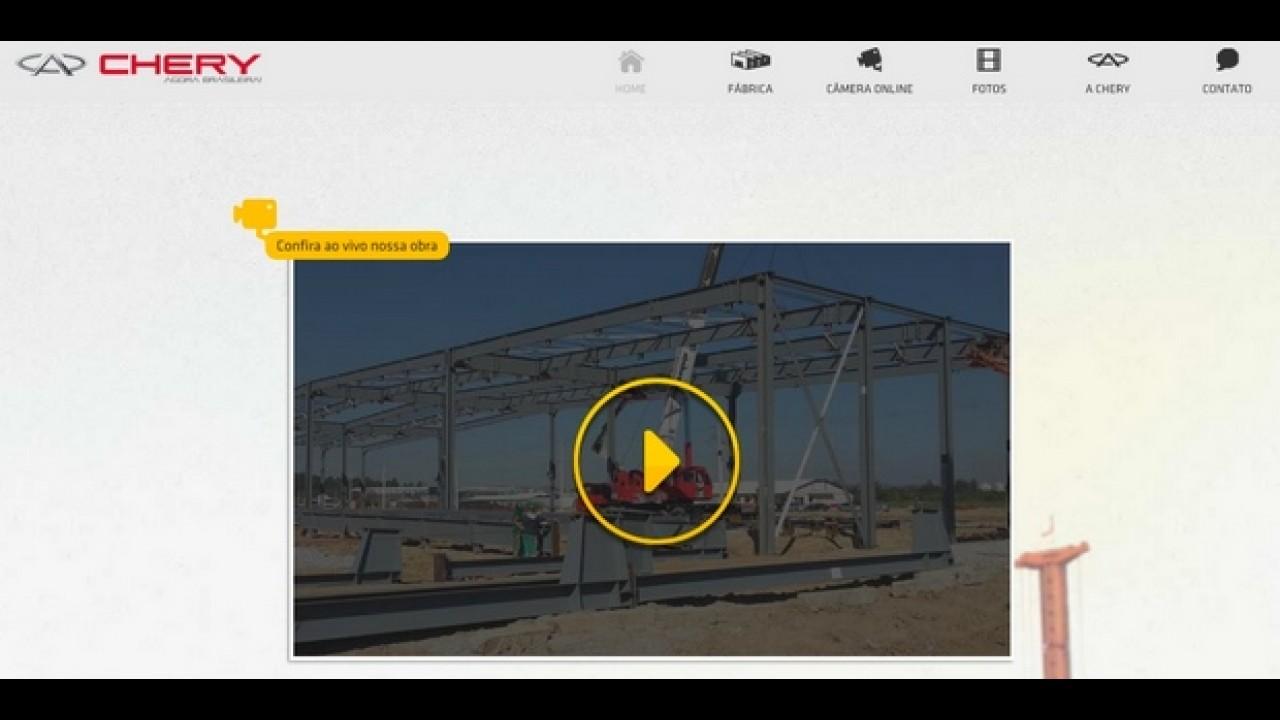 Chery lança site para mostrar a construção de sua fábrica no Brasil
