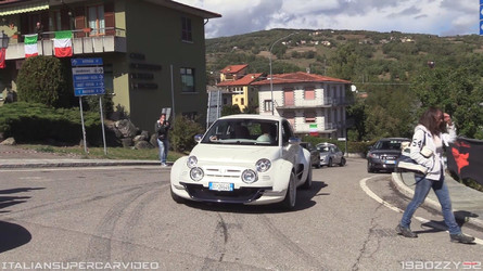 See How Great The 350-Hp Fiat 500 Giannini Looks On The Move