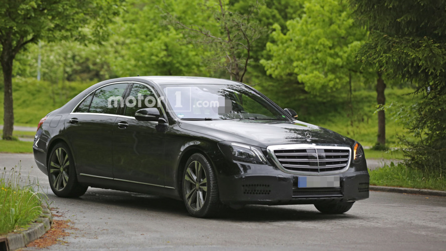 Mercedes S Class facelift spy photos