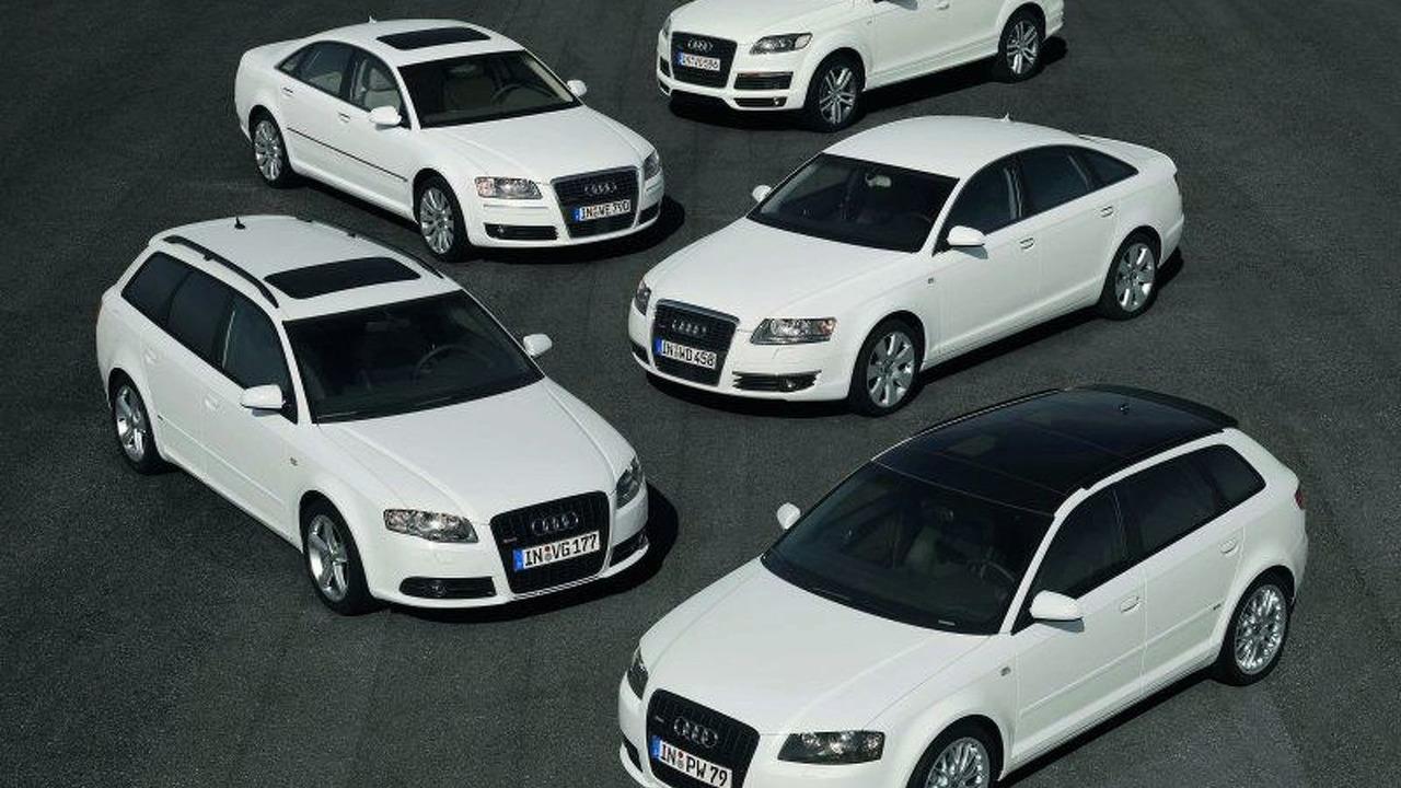 'e' models: Q7, A6 Avant, A3 Sportback, A4 Avant, A8