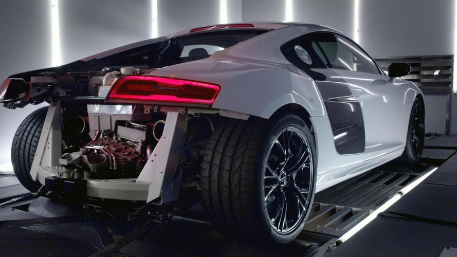 Audi R8 V10 Plus stripped down to its heart [video]