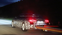 2014 Audi A8 facelift spied in the evening showing its taillights