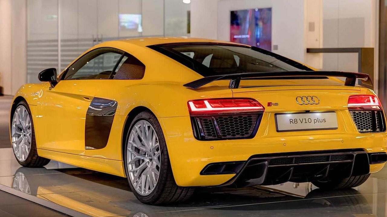 Audi R8 V10 Plus in Vegas Yellow looks sharp   Motor1.com Photos