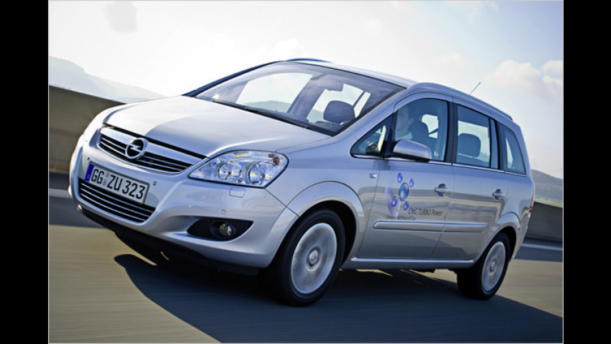Opel Zafira 1.6 CNG ecoFlex Turbo: Sparspaß mit Erdgas