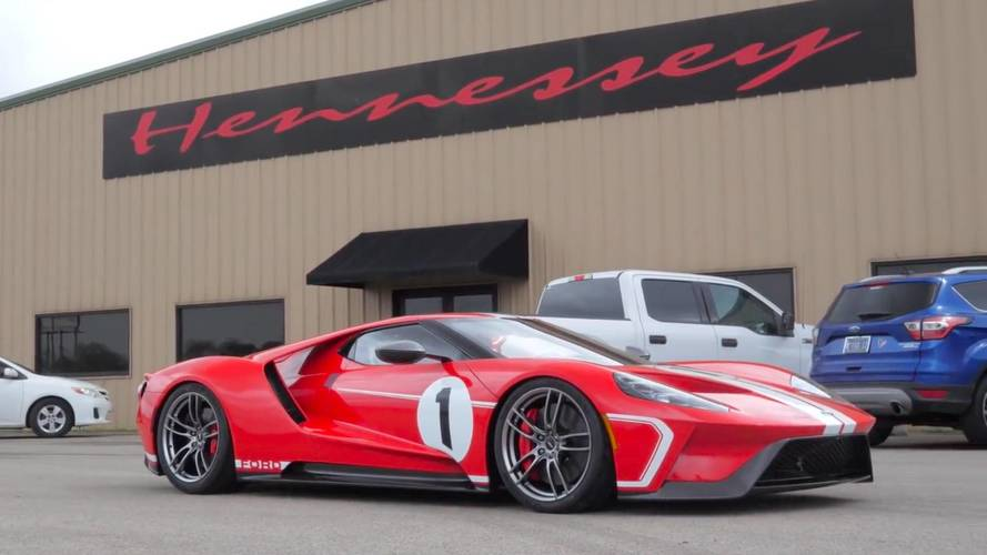 Watch Hennessey Take Delivery Of Its Ford Gt Heritage Supercar